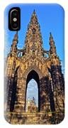 Scott Monument, Edinburgh, Scotland IPhone Case