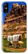 Scotts Bluff Wagon Train Panorama IPhone Case