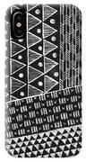 Scratchboard Kapa Pattern 1 IPhone Case