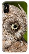 Screech Owl Portrait IPhone Case