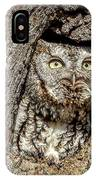 Screech Owl IPhone Case