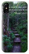 Scriture And Picture Psalm 119 133 IPhone Case