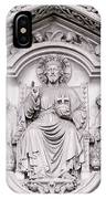 Sculpture Above North Entrance Of Westminster Abbey London IPhone Case