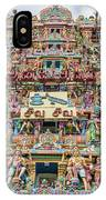 sculptures on Arulmigu Kapaleeswarar Temple, Chennai, Tamil Nadu IPhone Case