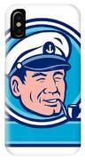 Sea Captain Smoking Pipe Circle Retro IPhone Case