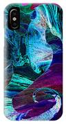 Seahorse In A Lightning Storm IPhone Case