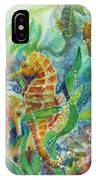 Seahorses Three IPhone Case