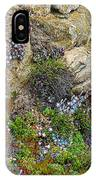 Seaside Cliff Garden In Point Lobos State Reserve Near Monterey-california  IPhone Case