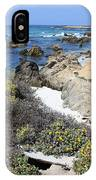 Seaside Flowers And Rocky Shore IPhone Case