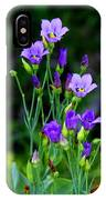Seaside Gentian Wildflower  IPhone Case