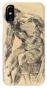Seated Male Nude (sitzender M?nnlicher Akt) IPhone Case