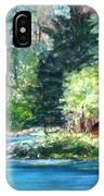 Secluded Boathouse-millsite Lake  IPhone Case by Jan Byington