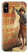 Seed Company Poster, C1890 IPhone Case