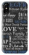 Seeger Lake House Rules IPhone X Case