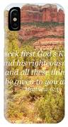 Seek First God's Kingdom IPhone Case