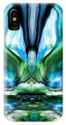 Self Reflection - Blue Green IPhone Case