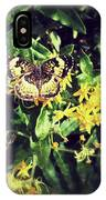 Sepia Butterfly IPhone Case