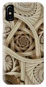 Sepia Swirls Fractal Art IPhone Case