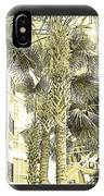 Sepia Toned Pen And Ink Palm Trees IPhone Case