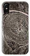 Sepia Tree Rings IPhone Case