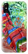 Serape On Wrought Iron Chair I IPhone Case