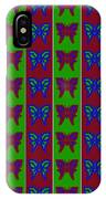 Serendipity Butterflies Blueredgreen 14of15 IPhone Case