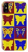 Serendipity Butterflies Brickgoldblue 1 IPhone Case
