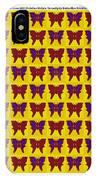Serendipity Butterflies Brickgoldblue 26 IPhone Case