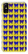 Serendipity Butterflies Brickgoldblue 27 IPhone Case