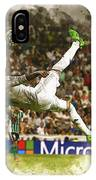 Sergio Ramos Tries To Score A Goal  IPhone Case