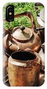 Set Of Ancient Teapots  IPhone Case