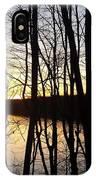 Setting Sun On Monroe Lake Bloomington Indiana IPhone Case