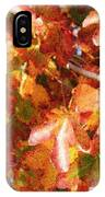 Seurat-like Fall Leaves IPhone Case