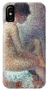 Seurat: Model, 1887 IPhone Case