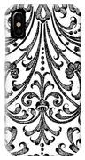 Seventeenth Century Parterre Pattern Design IPhone Case