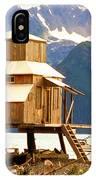 Seward Alaska House Of Stilts IPhone Case