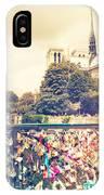 Shabby Chic Love Locks Near Notre Dame Paris IPhone Case