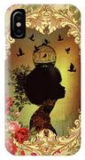 Shabby Fae Silhouette  Golden IPhone Case