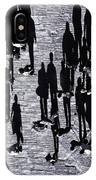 Shadow Of Peoples IPhone Case