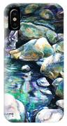 Shadow Play In Mission Creek IPhone Case