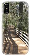 Shadows On A Boardwalk Through The Swamp IPhone Case