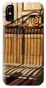 Shadows On A Wood Door IPhone Case