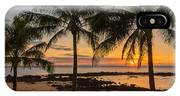 Sharks Cove Sunset 4 - Oahu Hawaii IPhone Case