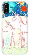 She Meets The Moon Unicorns IPhone Case