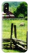 Sheep Grazing In Pasture IPhone Case
