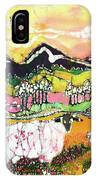 Sheep On Sunny Summer Day IPhone Case