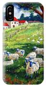 Sheeps In A Field IPhone Case
