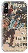 Sheet Music Le Roi Misere By Etienne Decrept And Leopold Gangloff, Performed By Mevisto Theophile Al IPhone Case