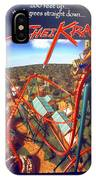 Sheikra Ride Poster 2 IPhone Case