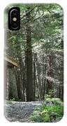 Shelter On Hemlock Trail IPhone Case